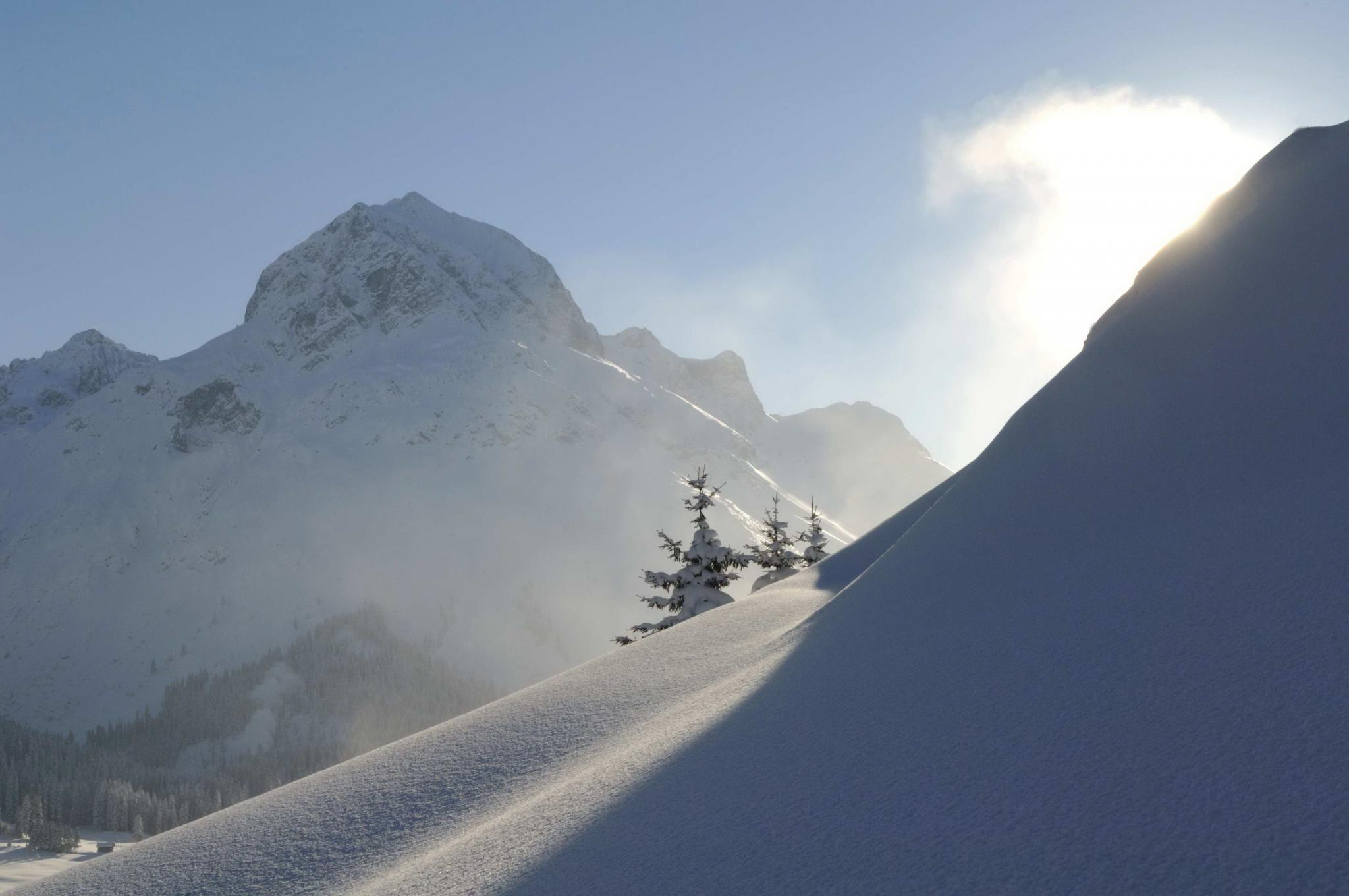 Berge Schnee Ausblick